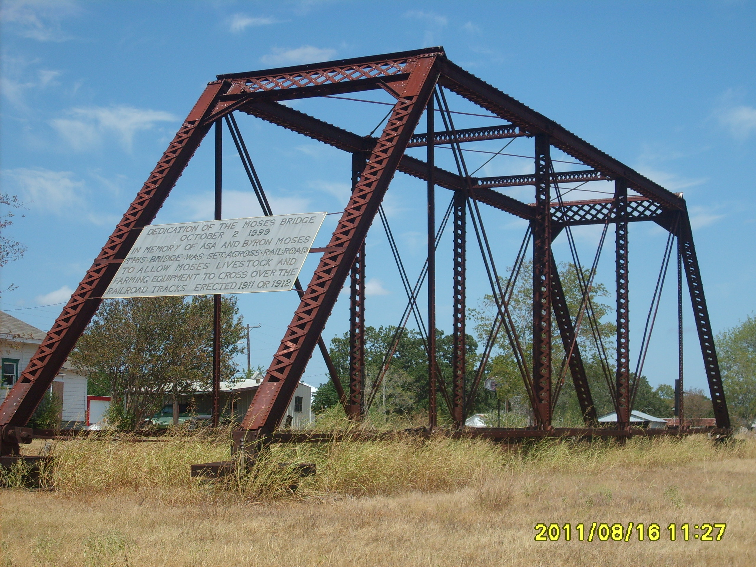 The bridge after being moved to the first location.